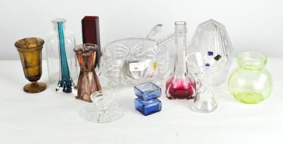 A selection of assorted glassware