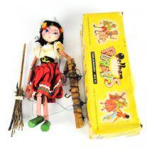 "A vintage Pelham puppet of a lady ""Standard Puppet"" in original box"