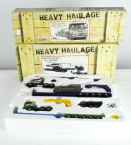Two Corgi Heavy Haulage series 1:50 scale model vehicles and more