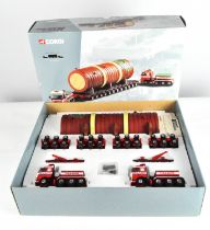 A Corgi 1:50 scale Heavy Haulage limited edition Volvo FH 4 axle ballasted tractor x 2 and others