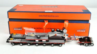 A Drake 1:50 scale 2X8 dolly and 7X8 steerable low loader, ZT09074,