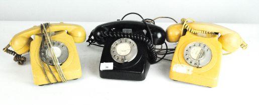 Three vintage PO telephones