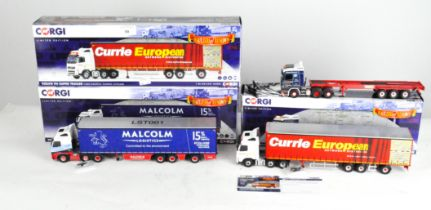 Three Corgi 1:50 scale Hauliers of Renown limited edition model vehicles,
