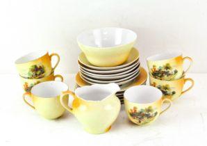 A Victoria China Czechoslovakia part tea set,