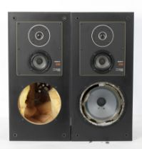 A pair of Sony E50 carbocon speakers, in
