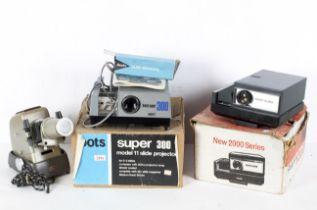 Three vintage slide projectors, comprisi