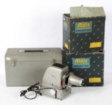 Four Aldis projectors, with 200/250 Volt