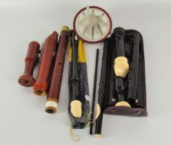 A group of contemporary recorders,