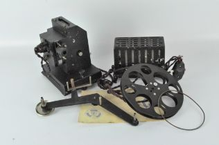 An early 20th century motor driven projector, possibly an Astor 22 model,