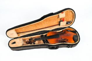 A Chinese Sky lark violin and bow,