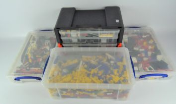 A large quantity of vintage Lego, comprising vehicles,