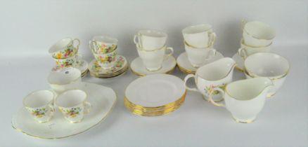 A vintage Colclough bone china tea set