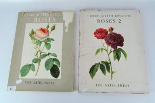 Two early vol Pierre-Joseph Redoute books, 'Roses' and 'Roses 2', The Ariel Press,