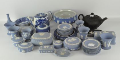 A large quantity of Wedgwood Jasperware, of assorted patterns and designs,