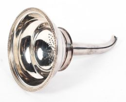 A sterling silver wine funnel by Roberts and Belk Ltd Sheffield, 1988. 3.4ozt.