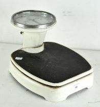 """A vintage set of weighing scales """"Healthmeter"""" measuring in stone,"""