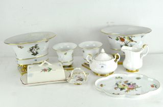 A selection of assorted ceramics, including a pair of Herend vases,