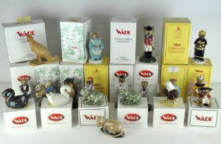 A collection of nineteen Wade ceramic figures, various designs and models,
