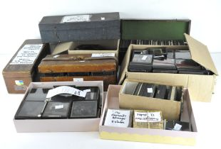 A large collection of photographic slides, depicting a selection of scenes,