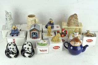 A collection of fifteen Wade ceramic figures, various designs and models,