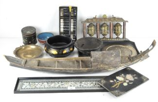 A selection of mostly Chinese collectables, to include a cloisonne enamel bowl and lidded pot,