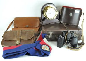 Assorted wares, including leather bags, a precision Aneroid Barometer,