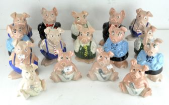 A selection of sixteen Wade ceramic Natwest Pig money banks