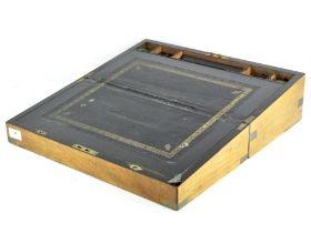A Victorian mahogany writing box of rectangular form,