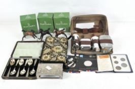 Assorted collectable's, to include three Royal Doulton figures and two 2012 Olympics £5 coins,