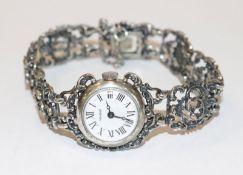 Mirabell Silber Trachten-Damenarmbanduhr, 36,8 gr., L 17 cm