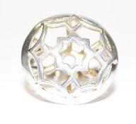 18 k Weißgold Tiffany Ring, Paloma Picasso, 9,58 gr., Gr. 61