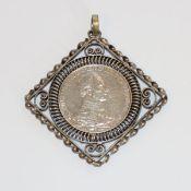 Silbermünze 3 Mark Wilhelm II., schön gefaßt, 30 gr.