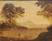 After Claude Lorrain (Gellee) - oil on canvas laid on panel - Coast view with the Embarkation of