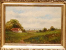 Late 19th/Early 20thC English School - a pair of oils on board - 'Golden Hill' & 'Church Common',