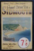 An oil painted Sidmouth Travel Poster - 'Leaving West Bay 1:45pm Due Back 7:30pm', Signs Service,