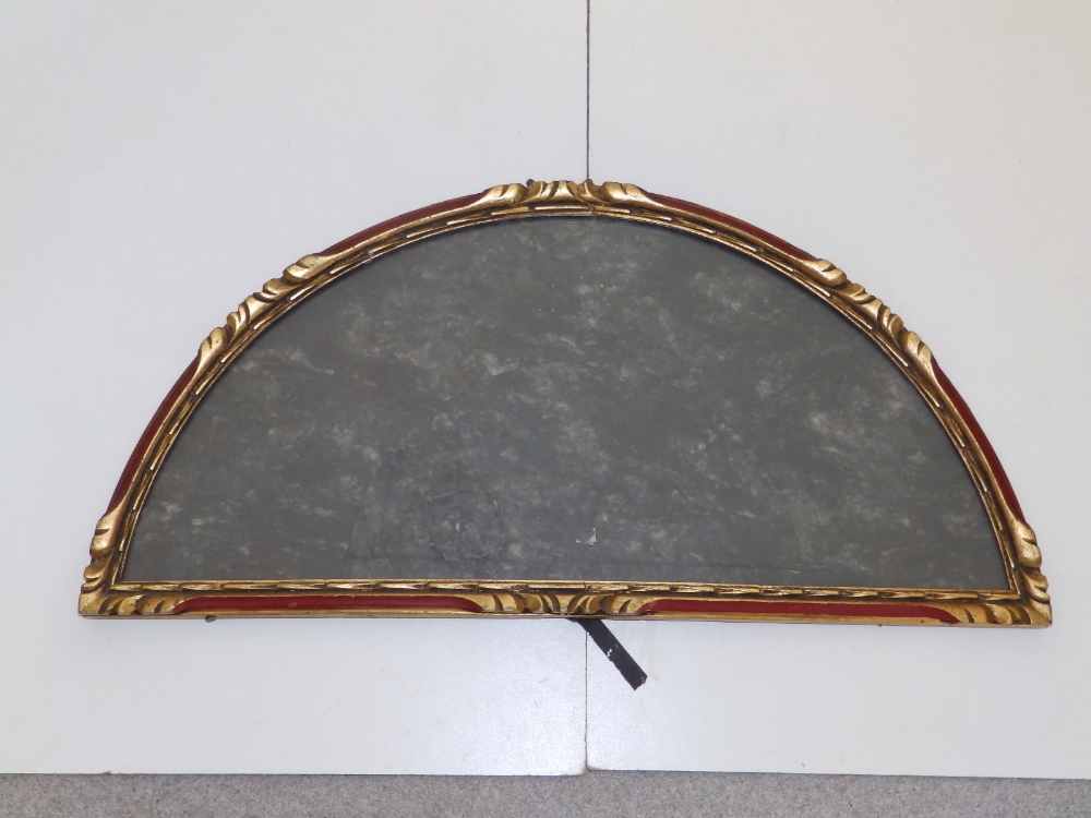 """A gilt metal glazed wall display case for a fan, 20.5"""" across and three gilt wood display cases, the - Image 3 of 5"""