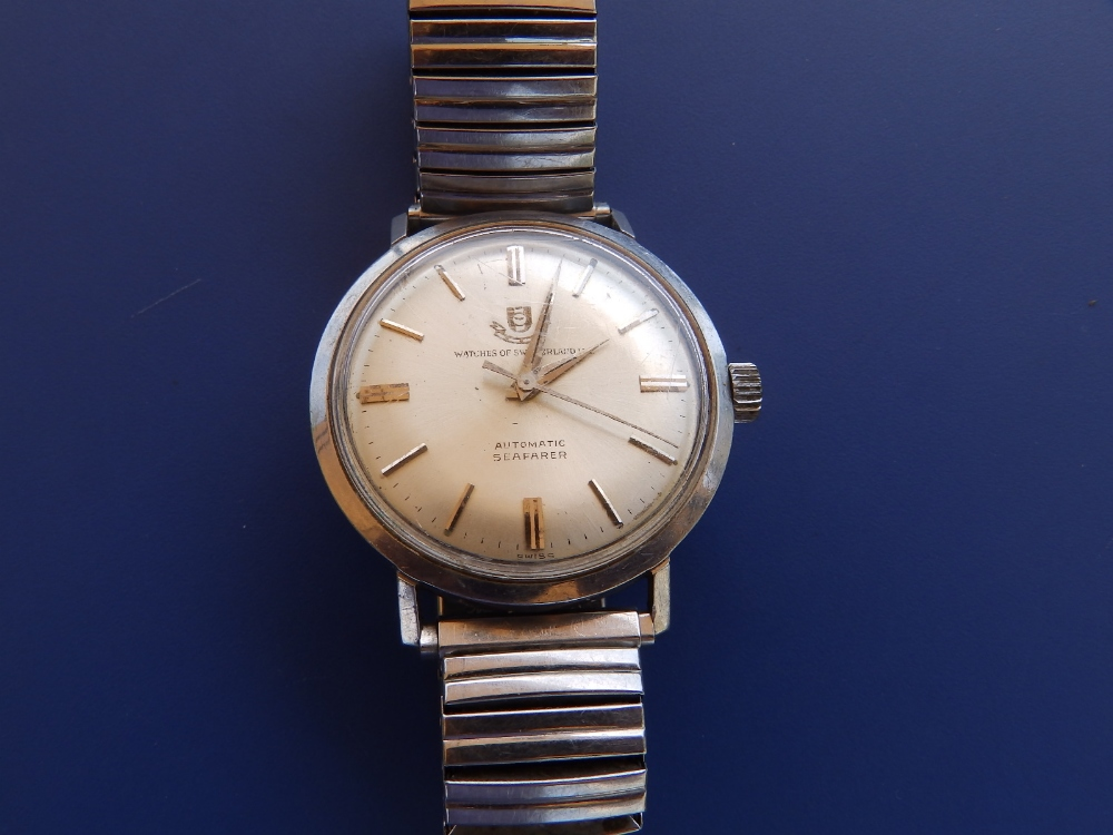 A boxed gent's stainless steel Watches of Switzerland Automatic Seafarer wrist watch with original - Image 2 of 3