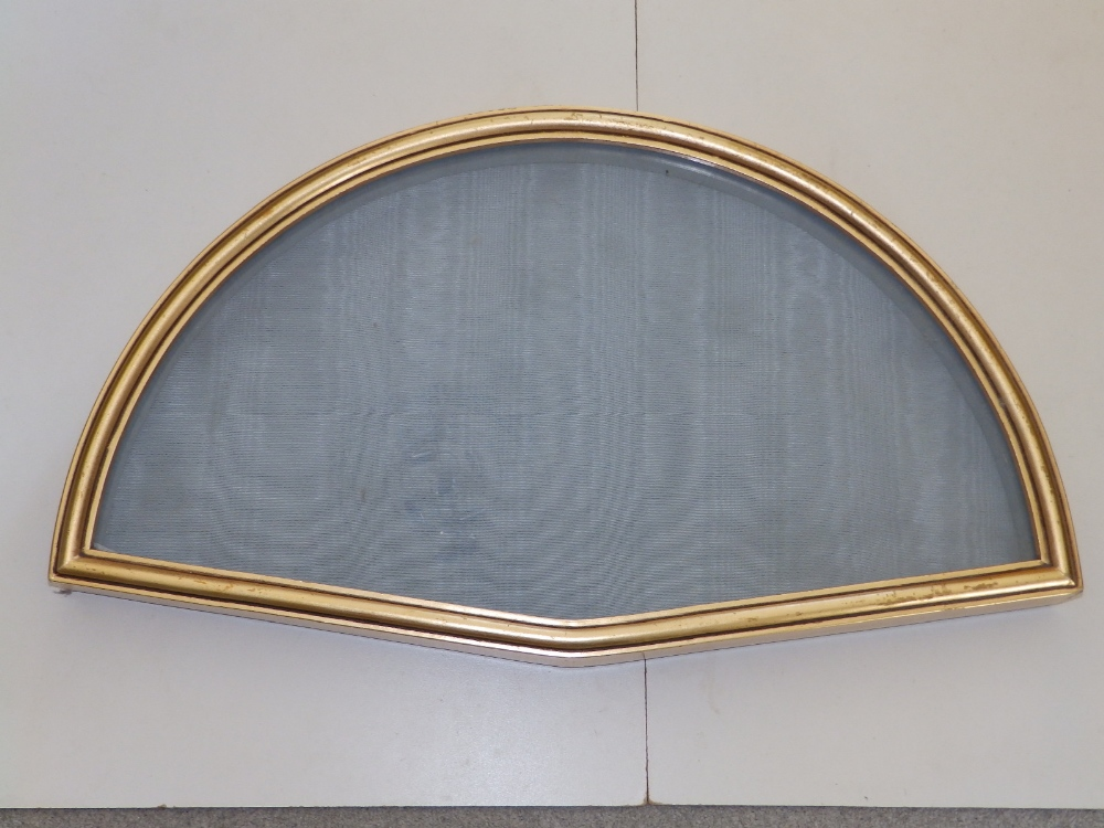 """A gilt metal glazed wall display case for a fan, 20.5"""" across and three gilt wood display cases, the - Image 2 of 5"""