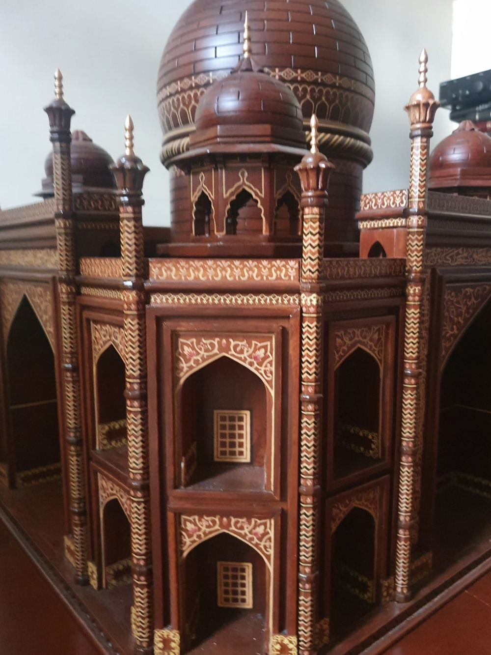 """A large wooden model of the Taj Mahal, Width 45"""", Height 32"""". Viewing by prior arrangement. - Image 7 of 8"""