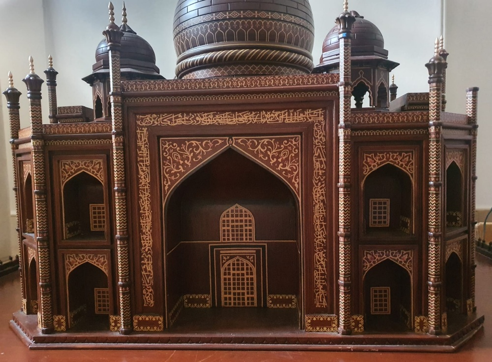 """A large wooden model of the Taj Mahal, Width 45"""", Height 32"""". Viewing by prior arrangement. - Image 5 of 8"""