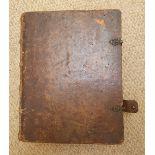 Brochmands Postill' - 1741, leather bound.