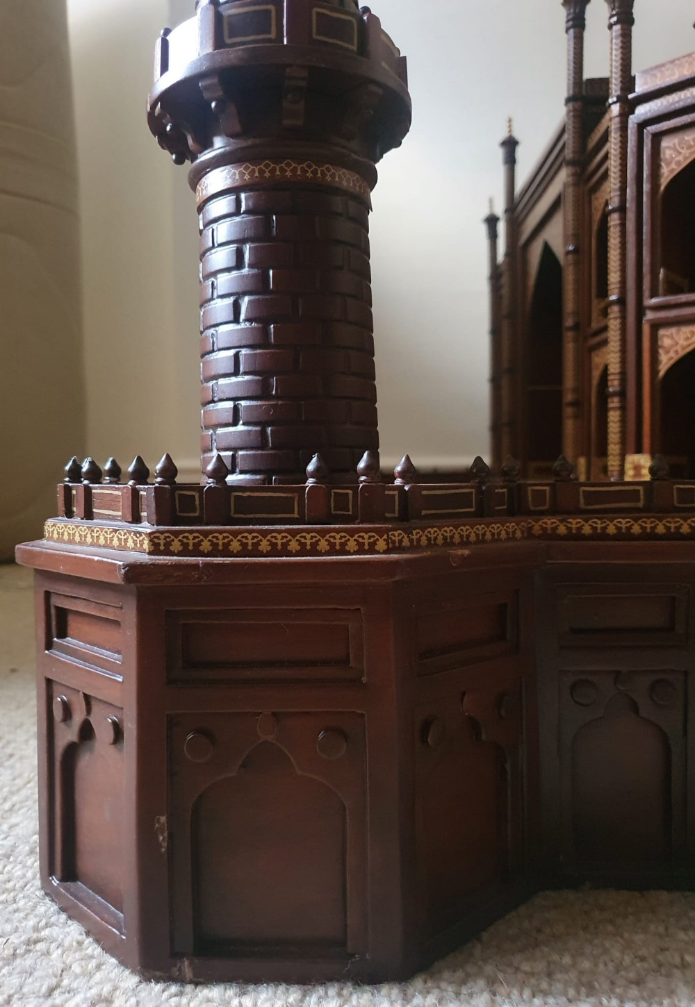 """A large wooden model of the Taj Mahal, Width 45"""", Height 32"""". Viewing by prior arrangement. - Image 3 of 8"""