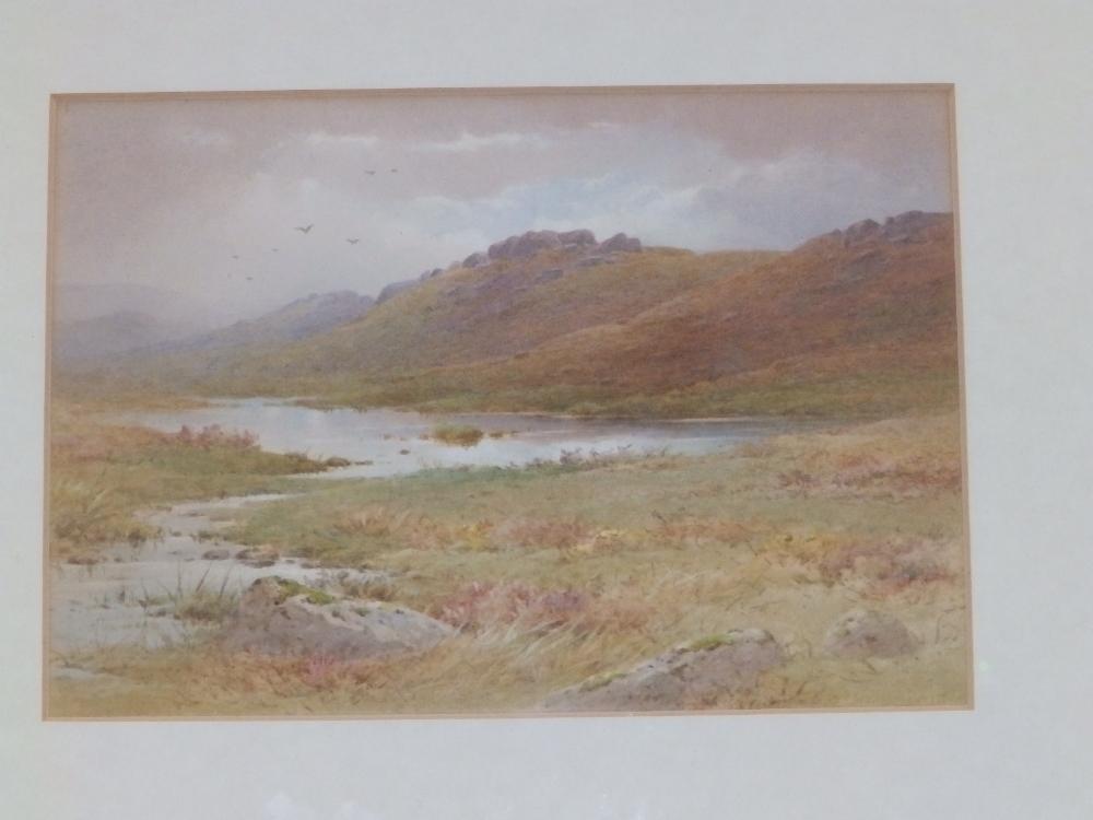 "Charles Edward Brittan (1870-1969) - watercolour - Moorland lake scene, 6.75"" x 9.5"" - signature"