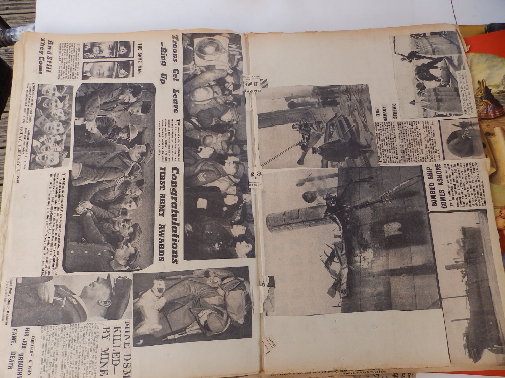 Five WWII period scrapbooks with colour printed covers - 'Save Photographs and Press Cuttings for - Image 4 of 8