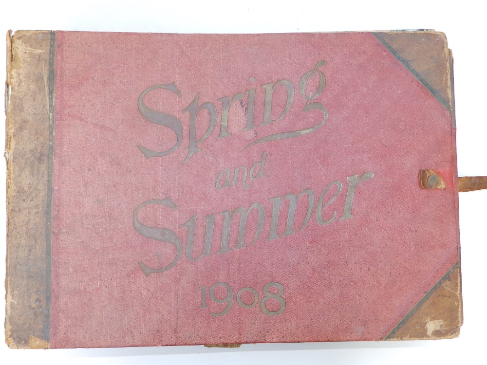 A large scrap album - 'Spring and Summer 1908' and contents.