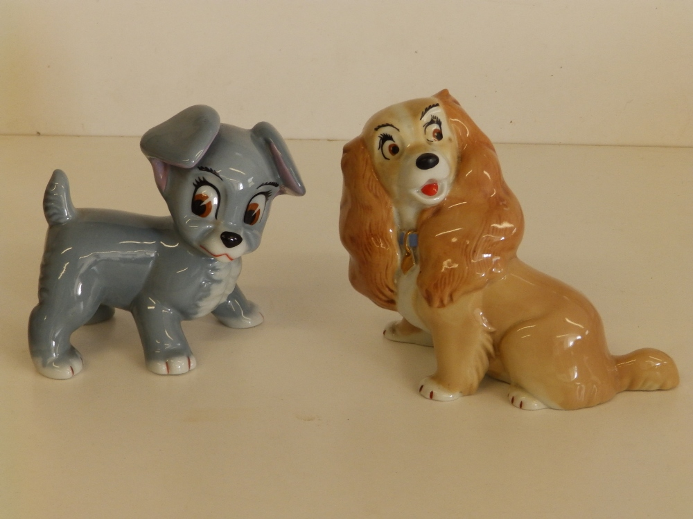 """A Wade Walt Disney model of Lady and another of Thumper, 5.5"""" across. (2)"""