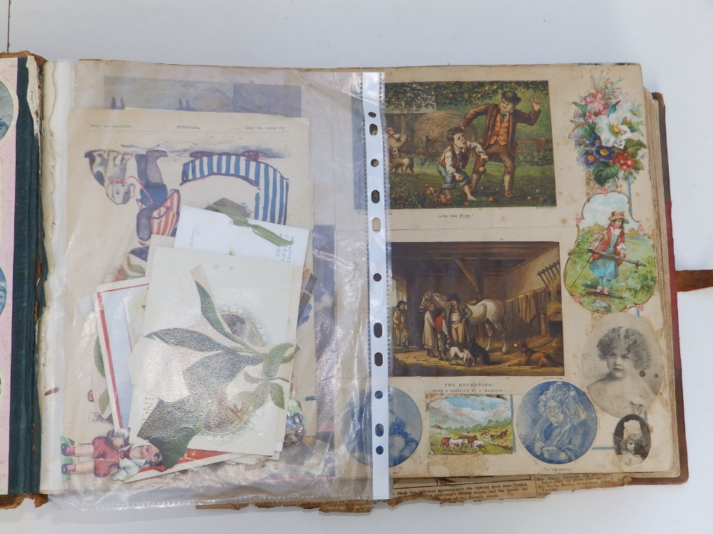 A large scrap album - 'Spring and Summer 1908' and contents. - Image 2 of 17