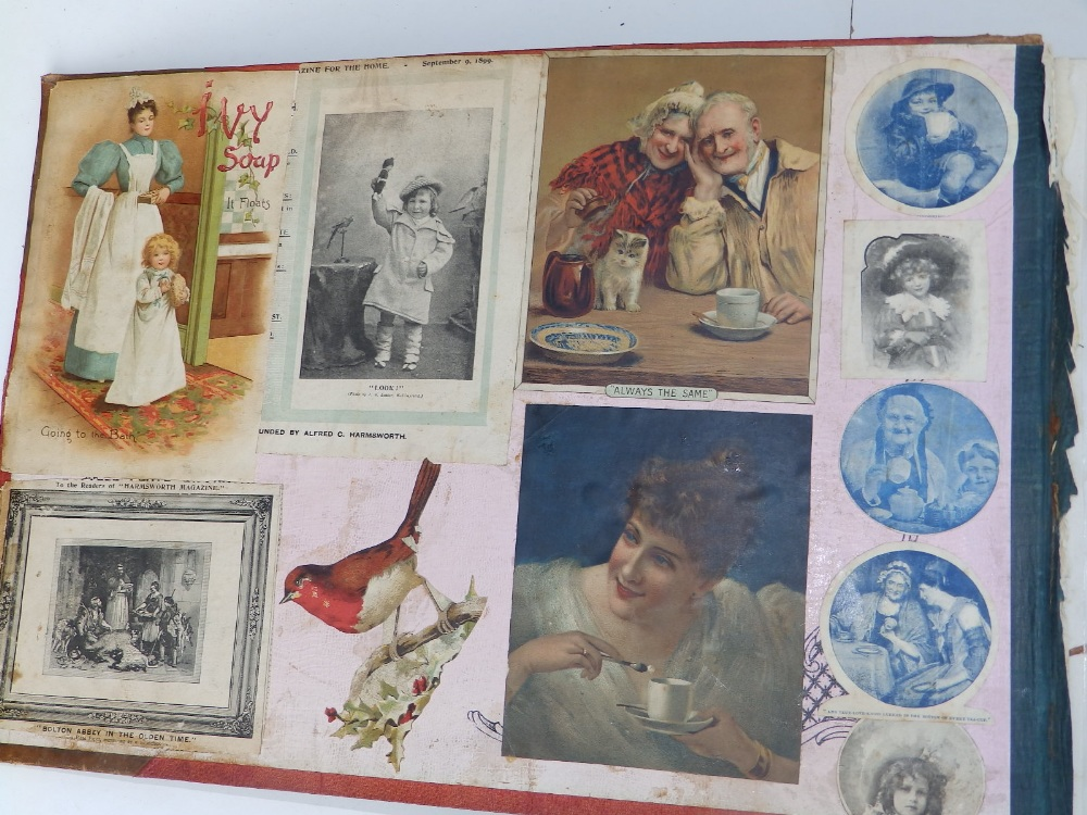 A large scrap album - 'Spring and Summer 1908' and contents. - Image 3 of 17
