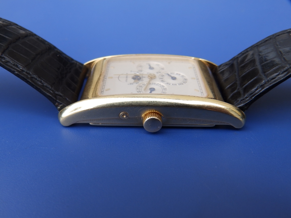 A gent's 18ct gold Audemars Piguet Perpetual Calendar wrist watch with moonphase, the white - Image 3 of 12