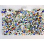 A large quantity of marbles - some old.